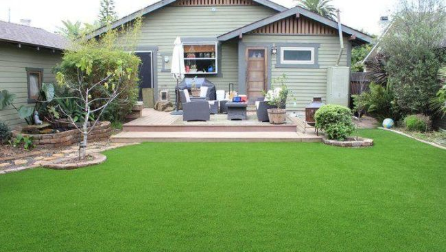 Install artificial grass