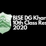 DG Khan Board 10th Class Result 2020
