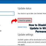 How to Disable Windows Update in Windows 10 Permanently?