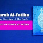 Surah fatiha imapct on Muslims