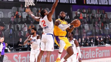"Photo of The Lakers win the LA showdown, LeBron James said, ""I just wanted to go aggressive"""