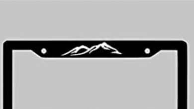 Photo of Raised License Plate Frame and it's effectiveness.