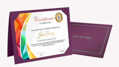 Photo of Custom Printed Certificate Holders are a great way to award certificates.