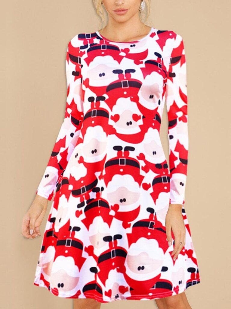 shestar wholesale snowman graphic christmas dress